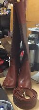 Capodarte Knee Heel Boots With Matching Belt Size 35 (size 6.5)
