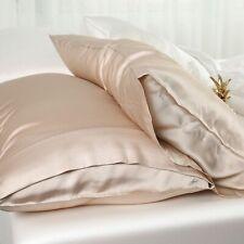 Simply Silk 100% Pure Silk Facial Beauty Pillowcase Handmade , Standard Beige