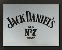 Jack Daniels Logo Stencil Wall Decor Art Craft Paint Ideal Stencils Ltd
