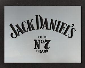 Jack Daniels Logo Stencil Wall Decor Art Craft Paint Ideal Stencils Ltd