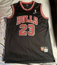 Michael Jordan Jersey Chicago Bulls Black Nike #23 Stitched Men's XL