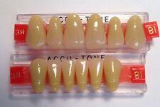 Acrylic False Teeth For Dentures. Accutone,shade81,upper & lower Anterior 3R Set
