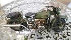Blechmodell Militär Motorrad Army Militaria Military Bike Fahrzeug Deko