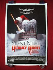 SILENT NIGHT DEADLY NIGHT * 1984 ORIGINAL MOVIE POSTER RARE ROLLED NSS HALLOWEEN