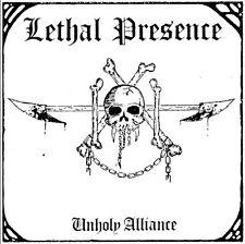 LETHAL PRESENCE - Unholy alliance (NEW*LIM.100 WHITE V.*CAN THRASH*SLAUGHTER)