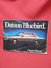 NISSAN DATSUN BLUEBIRD MODEL 910 SERIES OWNERS MANUAL HANDBOOK TRX NISMO B89
