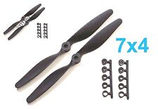 "4pcs 7x4"" 178x102mm Slow Flyer SF Electric Propeller with Adapter, US 001-00307A"
