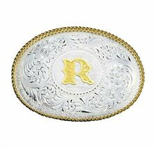 """Montana Silversmith Men's Silversmiths Initial """"R"""" Buckle Silver One Size"""