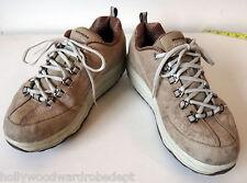 skechers shape ups 10 braun beige leder nubuk übung walking eu40