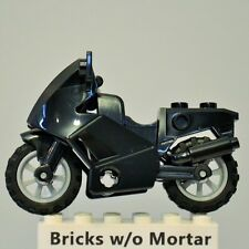 New Genuine LEGO Black Motorcycle City World Racers 8896