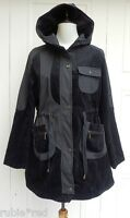 Black  Hooded Boutique Style Cord Trim Coat SIZE 12/14