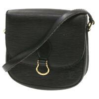LOUIS VUITTON Epi Saint Cloud PM Shoulder Bag Black M52212 LV Auth fm045
