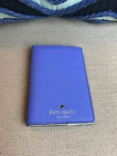 NEW KATE SPADE Miles Pond Blue Periwinkle Leather Passport Holder $78