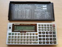 SHARP PC-1403H Pocket Computer, BASIC Calculator, Taschenrechner #689