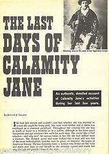 Calamity Jane & Her Last Days+Arnold,Brake,Burke,Cannary,Hickock,Secrest,Utter