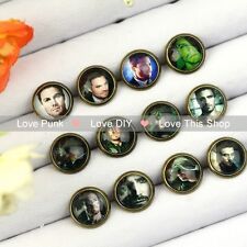 12pairs 10mm Fashion Earrings Stud Earrings Glass cabochon Earrings Green Arrow