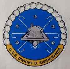"""USS DWIGHT D EISENHOWER CVN 69 Decal 4"""" x 4"""" US Navy"""