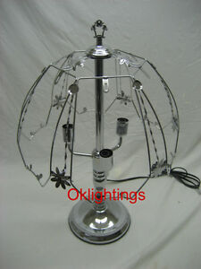 Touch lamp 24 inch Frame top and bottom base only Silver color