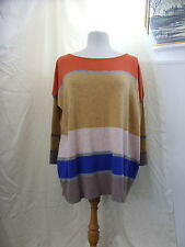 Ladies Sweater - JCL - One Size - Multi-striped - Angora blend - 0152