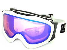 BLOC - ICE ski snow Goggles MATT WHITE/ Orange - Blue Mirror Cat.2 Lens ICE05