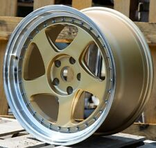 18X10.5 Rotiform TMB  Style 5X114.3 +35 Gold Wheels Rims (Set of 4)