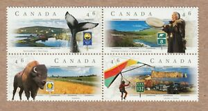SCENIC HWY = QUEBEC, MANITOBA, NEWFOUNDLAND = Canada 1999 #1783a MNH BLOCK