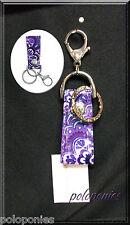 VERA BRADLEY Loop Key Chain - Lilac Tapestry NWT