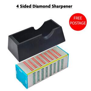 4 Sided Diamond Whetstone Sharpening Chisel/Blade Stone