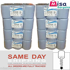 48 x Blue Rolls 2 PLY Centrefeed Paper Wiper Roll Towels BCF1812 Recommended