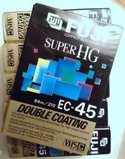 Set of 6 Fuji Super HG EC-45 64M VHSC Double Coating Video Cassettes