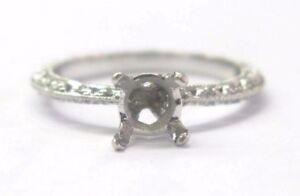 Tacori Platinum Diamond Semi Mount Jewelry Engagement Ring .20Ct Size 6.5