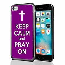 Purple Keep Calm and Pray On For Iphone 7 (2016) & Iphone 8 (2017) Case Cover