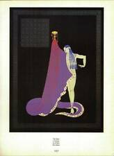 "ORIGINALE VINTAGE Erte Art Deco Print ""Lo schiavo PIASTRA"" Libro"