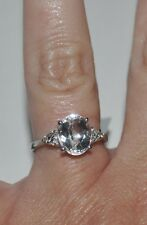 NEW!!! Ice Kunzite & White Topaz Sterlling Silver Ring Size 7
