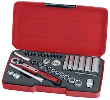 Genuine Teng Tools Socket-Set 36-Piece 1/4inch Drive Socket-Set - T1436