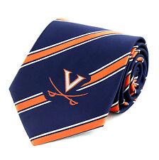 Virginia Cavaliers Mens Necktie College University Logo Striped Neck Tie New