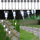 1/10/24 Pack Outdoor Stainless Steel Led Solar Power Light Lawn Garden Landscape