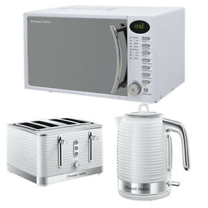 Russell Hobbs RHM1714WC White Microwave Kettle Toaster Set Buy Digital Cheap