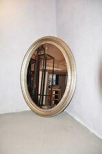 OVAL SPIEGEL Antiksilber SILBER 66x56cm Zierspiegel Ovalspiegel Wandspiegel TOP!