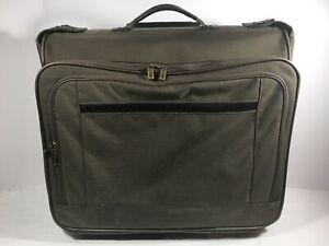 "Hartmann Tweed Leather 22"" X 20"" X 9"" Rolling Wheeled Garment Bag"