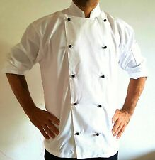 3 PACK TRADITIONAL CHEF JACKETS, STAR GEAR + 3 BLACK SET BUTTONS !!