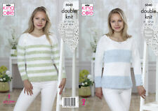 King Cole Ladies Double Knitting Pattern Raglan Sleeved Sweater Jumper 5040