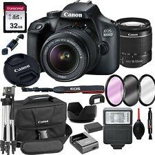 Canon EOS 4000D / Rebel T100 SLR Camera+ 18-55mm Lens+ 18 Piece Bundle
