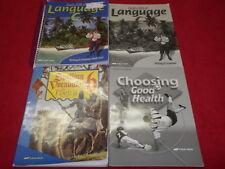 Abeka 6th Choosing Good Health Language C Spelling Vocab & Poetry (Lot Of 4)