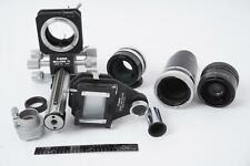 Canon FD lot including Canon Bellows FL + Slide duplicator + tubes