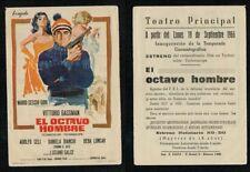 Programa publicitario de CINE. Título: EL OCTAVO HOMBRE. VICTORIO GASSMAN.