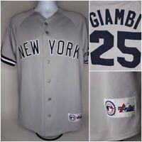 Jason Giambi New York Yankees Majestic Baseball Stitched Jersey Mens Size M