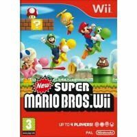 New Super Mario Bros. for Nintendo Wii PRISTINE 1st CLASS FAST and FREE DELIVERY