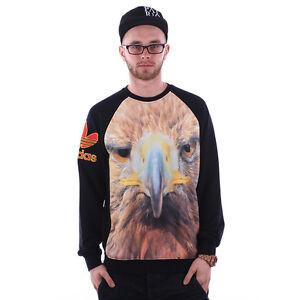 Genuine Adidas Originals Men's/ Boys Eagle Crew Sweatshirt/ Top, Size: XS, S