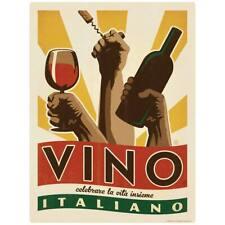 Vino Italiano Italian Wine Decal Peel and Stick Decor